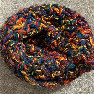 Multi soft cable knit circle scarf
